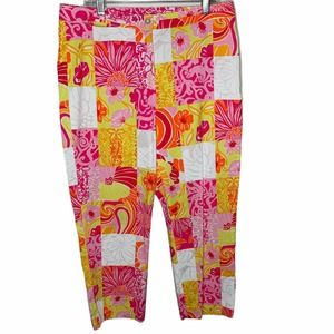 Lilly Pulitzer Patchwork Cropped Pants
